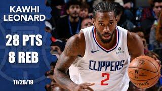 Kawhi Leonard drops 28 points in Clippers vs. Mavericks matchup | 2019-20 NBA Highlights