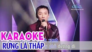 Rừng Lá Thấp - KARAOKE | Tone Nam | Trường Vũ