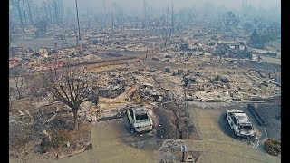 Santa Rosa Fires Drone Douglas Thron October 10, 2017 Hilton, Coffey, California, 2018
