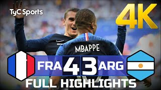France - Argentina (4-3) 4K FULL HIGHLIGHTS & GOALS (Argentinian Commentary)