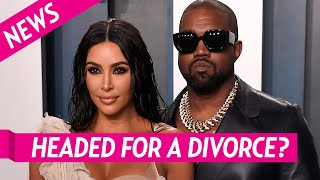 """Kim Kardashian and Kanye West - Marriage is 'Done"""" and Living Separate Lives"""