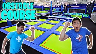 TRAMPOLINE PARK OBSTACLE COURSE!