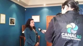 Sabina Costa en Canal 10.