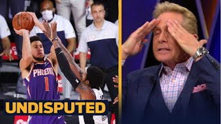 UNDISPUTED | Skip Bayless SHOCKED Kawhi, Clippers lose to Suns 117-115; Devin Booker: 35 Pts