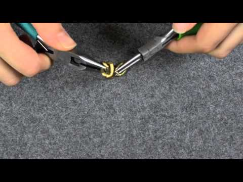 Project DIY's How To Open chain using a flat plier and round tip plier