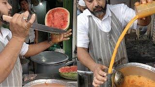 WATERMELON CUTTING NINJA   Crazy Juice Making Skills   Indian Street Food