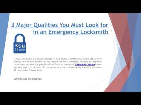 3 Major Qualities You Must Look for in an Emergency Locksmith