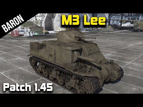 War Thunder 1.45 Tank Gameplay - M3 Lee, The General Lee American Tank!