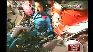 Astronauts Entering Tiangong - 1  Part 1 of 3  06-18-2012
