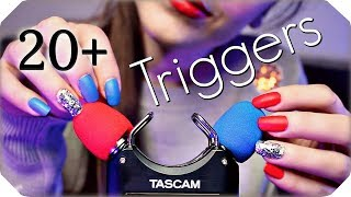 ASMR 20+ TASCAM Triggers for Sleep & Tingles (NO TALKING) Deep Relaxing Ear to Ear Sounds 💙 3 Hours