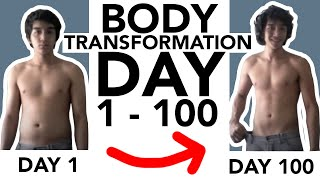 Body Transformation - Day 1 to 100
