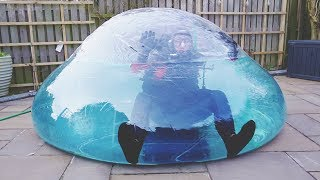 I Went Scuba Diving in a Zorb Ball & You Have to See What Happened… (Swimming on Land Challenge)