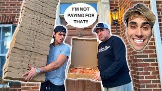 ORDERING 100 GIANT PIZZAS TO MY BROTHERS HOUSE! (cops almost called)