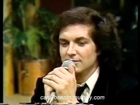 Camilo Sesto canta en Vivo en la televisión chilena