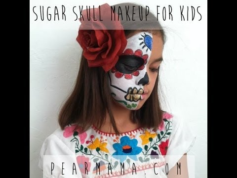 How to Paint Sugar Skull Makeup for Kids - YouTube