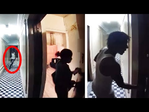 Woman narrowly escapes as stalker chases her to apartment door, viral video