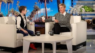 Kid Magician Aidan McCann Stuns Ellen with an Invisible Card Trick