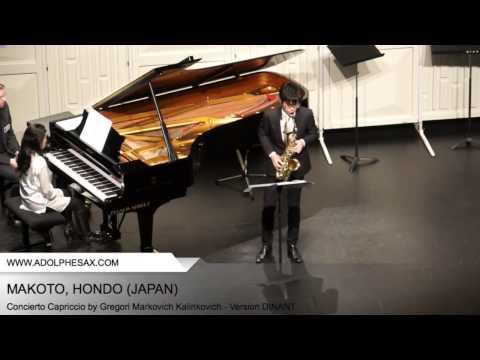 Dinant 2014- Makoto, Hondo - Concerto Capriccio by Gregori Markovich Kalinkovich