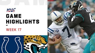 Colts vs. Jaguars Week 17 Highlights | NFL 2019
