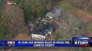 91-year-old killed in house fire
