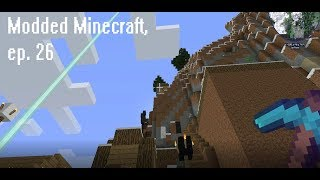 Modded Minecraft Survival, Ep. 26 Climbing to the mysterious house on top of the mountain.
