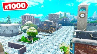 FORTNITE *1000* FREEZE TRAPS vs TILTED TOWERS! (Custom Playground Battle Royale Mode)