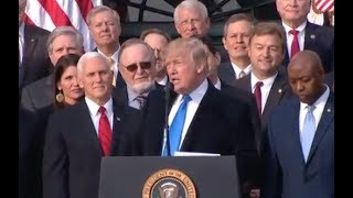 Trump And GOP Celebrate Tax Bill Passage -Full Event At White House