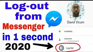 How to logout from facebook messenger 2018:logout from messenger in android in just 5 second