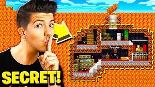 I FOUND PRESTONPLAYZ SECRET UNDERGROUND MINECRAFT BASE!