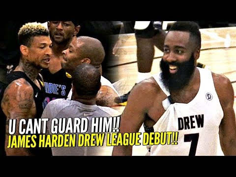 James Harden Drew League Debut Got SUPER HEATED!! NBA MVP vs Drew League MVP WENT AT IT!!