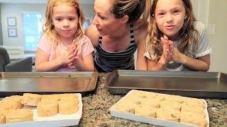 Making Cookie Ice Cream Sandwiches