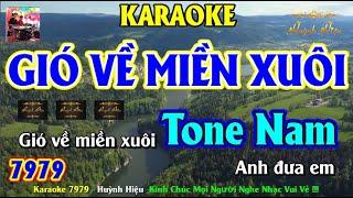 Karaoke 7979 Gió Về Miền Xuôi Nhạc Sống Tone Nam || Hiệu Organ Guitar || Beat Chất Lượng Cao