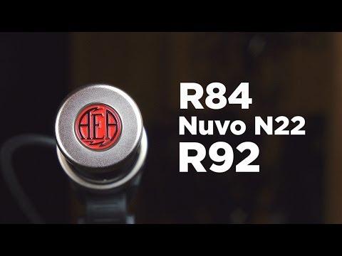 AEA Microphones Ruban : Comparaison R84, R92, N22 Nuvo