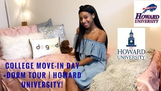 COLLEGE MOVE IN DAY VLOG + DORM TOUR | HOWARD UNIVERSITY