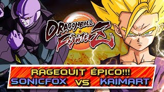 RAGEQUIT EN LA CARA!! SONICFOX vs KAIMART: DRAGON BALL FIGHTERZ (FT3)