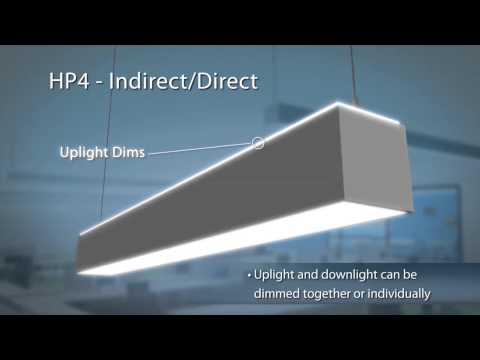 The HP4 Indirect/Direct LED Linear Suspended Office Lighting Fixture