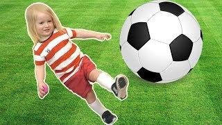 The Soccer Song (Football Song)   Katya and Dima Nursery Rhymes & Kids Songs
