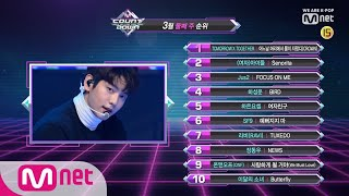 What are the TOP10 Songs in 2nd week of March? M COUNTDOWN 190314 EP.610