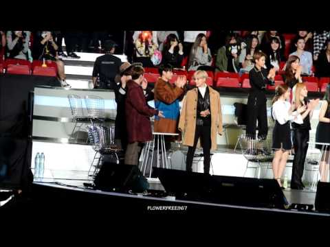 151202 SHINee reaction to Best Vocal Performance Award Male