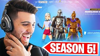 SEASON 5 BATTLEPASS REACTION! (My Favorite Skin Ever...)