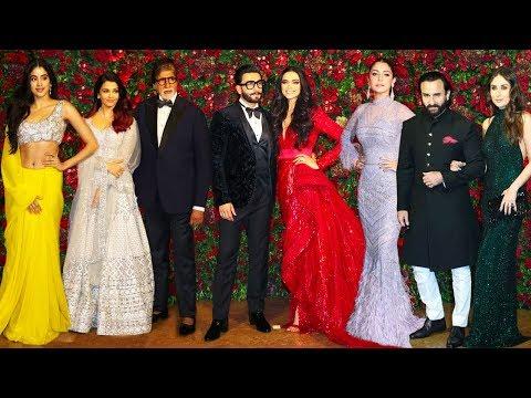 Bollwyood Stars At Deepika Padukone & Ranveer Singh's Final WEDDING/Marriage Party Complete Video HD
