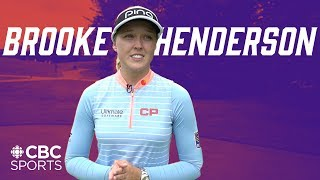 Brooke Henderson Walks Us Through Her Process and Strategies of a Par 4 Golf Hole | CBC Sports