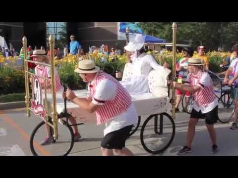 Aunt Millie Takes on the Three Rivers Bed Race 2015