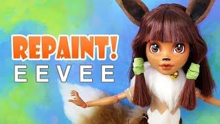 Repaint! Eevee Pokemon OOAK Custom Doll