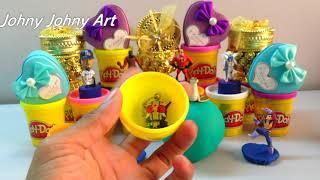 04 Colors Play Doh Ice Cream Cups Trolls Play Dough Surprise Toys | Johny Johny Art #32