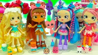 New Season 7 Shopkins Shoppies Dolls Cocolette Lucy Smoothie, Daisy Petals & Polli Polish