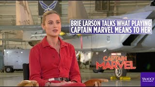 'Captain Marvel' star Brie Larson says she's an introvert in interview