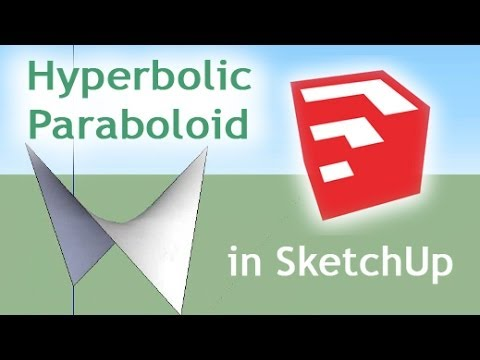 Sketchup Tutorial Hyperbolic Paraboloid Tensile