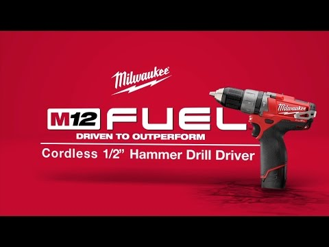 Milwaukee M12CPD-202C 12v Combi Drill Fuel Brushless 2 x 2.0ah li-on Batteries