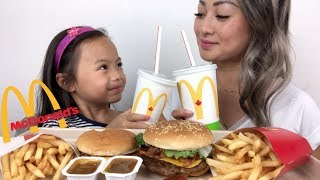 McDonald's Quarter Pounder BLT & Cheeseburger | Mukbang | N.E Lets Eat